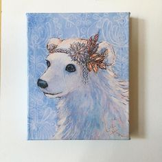 This lovely lady is off to a new home today! Congratulations Sofia for winning my draw for a free canvas print! If you'd like to enter the next draw visit my booth @marketcollective the weekend of December 9-11 and sign up for my newsletter  . . #polarbear #polarbearart #vintagelady #yycgirlgang #jenniferstablesart #jennydaledesigns #yycstyle #yycartist #okotoksartist #canadianart #shoplocalyyc #marketcollective #marketcollectiveyyc