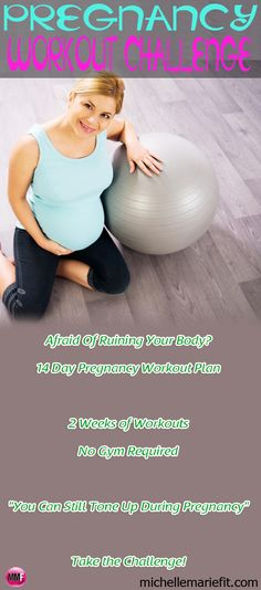 Its so hard to get moving and exercising during pregnancy.  Join this 2-Week Pregnancy Workout Challenge to jumpstart your health and fitness this pregnancy.  Daily short workouts to do at home.  And there are pictures and videos of all the workouts, this is great!