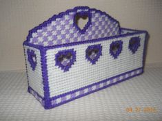 Double Hearts Napkin Holder in Plastic canvas by SpyderCrafts Plastic Canvas Books, Plastic Canvas Coasters, Plastic Canvas Crafts, Plastic Canvas Patterns, Greeting Card Holder, Kitchen Canvas, Bill Holder, Coupon Holder, Craft Night