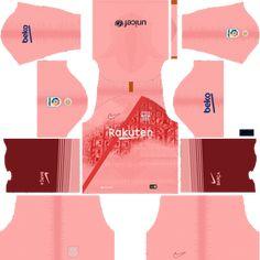 fc barcelona kit and logo 2018 2019 dream league soccer trickvile