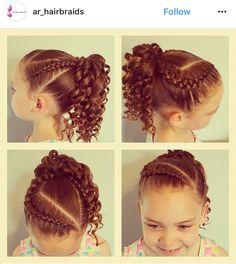 Peinados niñas Baby Girl Hairstyles, Kids Braided Hairstyles, Princess Hairstyles, Easy Hairstyles For Long Hair, Cute Hairstyles, Ariel Hair, Competition Hair, Girl Hair Dos, Hair Due