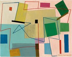 Grace Crowley Abstract painting c1950 Modern Art, Contemporary Art, Modern Rugs, Female Painters, Australian Artists, Crowley, Art Portfolio, Female Art, Painting & Drawing