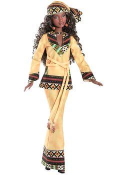 NRFB Kwanzaa AA Barbie Doll Black Festivals DOTW 2006 First Fruits African Queen