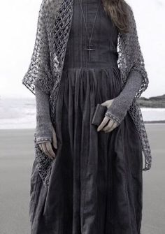 Minus the cross, but very PLUS the open weave sweater/shawl!