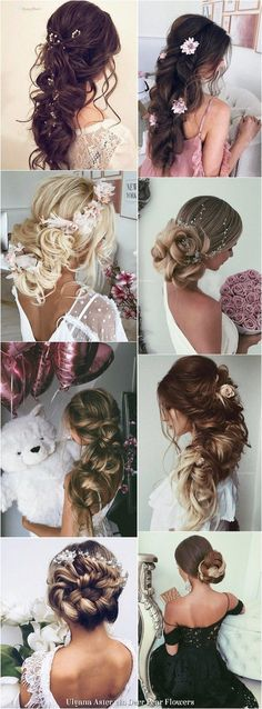 lange Haarmodelle – Ulyana Aster Lange Hochzeitsfrisuren Inspiration – www. Wedding Hairstyles For Long Hair, Wedding Hair And Makeup, Bride Hairstyles, Pretty Hairstyles, Bridal Hair, Easy Hairstyles, New Hair Look, Long Hair Models, Wedding Hair Inspiration
