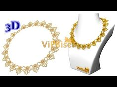 Learn to make beautiful beaded necklace with this 3d tutorial by ViPBiser. Official website: www.vipbiser.com.ua