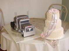 Peterbilt Truck Grooms Cake