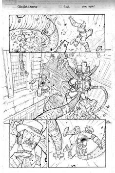 Spider-Man Steampunk Re-Design - Sample Page 2