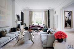 Contemporary Living Room by Francis Sultana Ltd. and Thomas Croft Architects in London, England