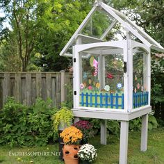 I've seen so many great examples of these little window greenhouses here on Hometalk and finally got the chance to make my own after finding a pile of old windo…