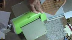 Embossing with stencils, via YouTube.
