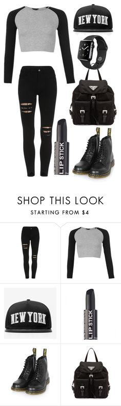 """Без названия #513"" by berlinmoskva ❤ liked on Polyvore featuring Stampd, Dr. Martens and Prada"