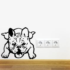 Dog Decal French Bulldog Dumpling, Vinyl Sticker Decal - Good for Walls, Cars, Ipads, Mirrors Etc by PSIAKREW on Etsy
