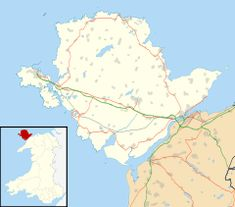 Caer Gybi is located in Anglesey ( Caer Gwynnion [the White Fort])??