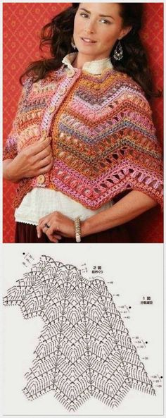 Learn How To Make a Double (Italian) Hem Stitch - Bolso Crochet Crochet Baby Poncho, Crochet Beach Dress, Crochet Cape, Knitted Poncho, Crochet Scarves, Double Crochet, Crochet Clothes, Knit Crochet, Crochet Dollies