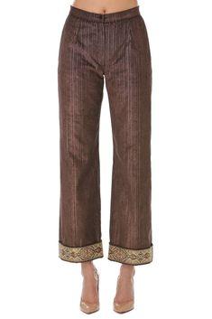 Pantaloni catifea maro