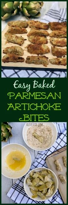 Perfect for entertaining or topping on your salad, these crispy baked artichoke bites are so easy to make and crowd-pleasing. Best Appetizer Recipes, Best Appetizers, Brunch Recipes, Easy Dinner Recipes, Easy Meals, Tailgating Recipes, Supper Recipes, Appetizer Ideas, Easter Recipes