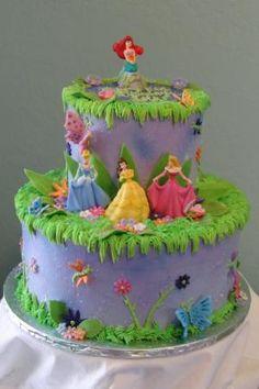 Princess Birthday Cake on Disney Princess Birthday Cake By  Graceful Cake Creations