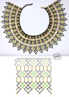 Дыхание Бисера's photos Diy Necklace Patterns, Seed Bead Patterns, Beaded Jewelry Patterns, Beading Patterns, Stitch Patterns, Seed Bead Jewelry, Bead Jewellery, Jewelry Making Beads, Seed Bead Projects