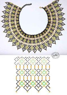 Дыхание Бисера's photos Diy Necklace Patterns, Seed Bead Patterns, Jewelry Patterns, Beading Patterns, Stitch Patterns, Bead Jewellery, Seed Bead Jewelry, Jewelry Making Beads, Beaded Collar