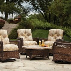 Brown Jordan Wave Sling Chaise Lounge, Chair, And Ottoman | Outdoor U0026 Patio  Furniture | Pinterest | Brown Jordan, Chaise Lounges And Contemporary Style