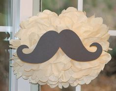 Mustache pom pom kit moustache baby shower by TheShowerPlanner