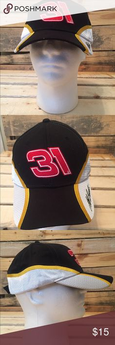 1bae87992fe CAT Racing  31 NASCAR Hat Jeff Burton RCR Cap Hat CAT Racing  31 NASCAR Hat  Jeff Burton RCR Sports Mens Black Yellow White Baseball Cap new without  tags ...
