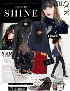 """Dress to Shine by Levi's Holiday Campaign"" by bittersweet89 ❤ liked on Polyvore"
