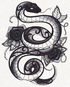 snake tattoo ♡