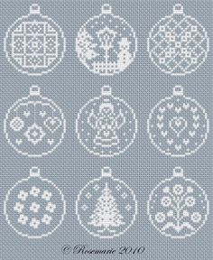ru / foto # 63 - Véspera de Ano Novo e / freebies - Jozephina - Lmaoru / Jozephina - Album New Year Christmas ornamentLovely as tree decorations or cards Cross Stitch Christmas Ornaments, Xmas Cross Stitch, Cross Stitch Cards, Christmas Embroidery, Christmas Knitting, Christmas Cross, Cross Stitching, Cross Stitch Embroidery, Machine Embroidery