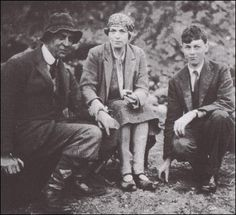 Christopher Morcom and his parents, 1929
