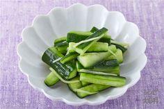 手作り浅漬け きゅうり(きゅうり+Aしょうがのせん切りを使ったレシピ)
