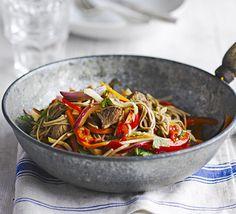 Lamb and buckwheat noodles