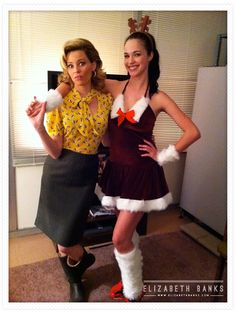 Me with Alexis Knapp as Stacie behind the scenes of Pitch Perfect