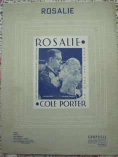 1937 Rosalie Cole Porter Song Book Sheet Music by cindyscozyclutter on Etsy