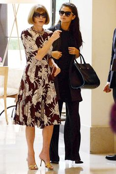 Selena Gomez out with Anna Wintour & Donatella Versace