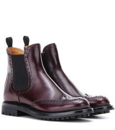 Church's - Aura leather Chelsea boots - Church's dark-bordeaux Aura Chelsea…