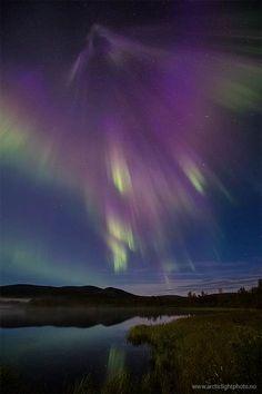 Photographer Ole Salomonsen captured this stunning shot of the northern lights above Namaikka, Finland, on Tuesday morning.
