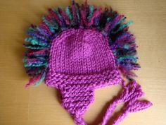 Ear Flap Mohawk Hat Knitting Pattern Images