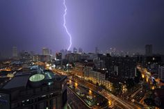 Lightning hit the sky above Singapore - Xinhua News Agency/REX