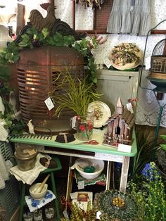 Spring Garden Booth at Isaac's Rusty Wagon. Energy IL.