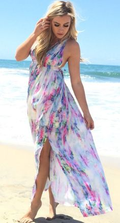 Size 16-24 UK Ladies Womans Tropical Maxi Long Beach Evening Summer Dress Tall