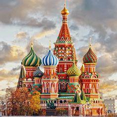 Пазл онлайн: Собор Василия Блаженного