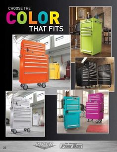 The Original Pink Box now has toolboxes in different colors! Love!