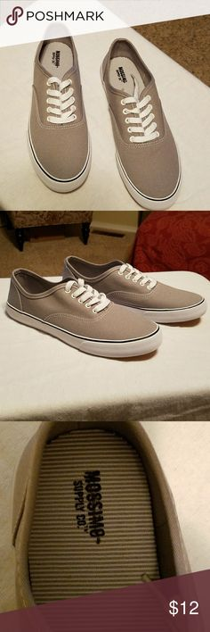 Mossimo Canvas Sneakers Size 8....NWOT...Gray and white. Brand new.moss Mossimo Supply Co Shoes Sneakers