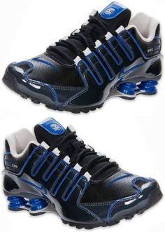 092f5dd3325057 Nike Shox NZ Mens Black Blue Anthracite Running Shoe Brand New in Box  Select Sz