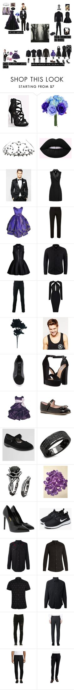 """My Dream Wedding!!!"" by batgirl-at-the-disco3 ❤ liked on Polyvore featuring Elope, ASOS, Iris & Ink, INC International Concepts, Topman, Lavinia Cadar, STONE ISLAND, Balmain, Toni&Guy and Ermenegildo Zegna"