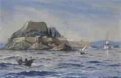 Willy Stöwer - Blick auf Corfu vom Meer aus