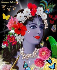Krishna Lila, Baby Krishna, Shree Krishna, Ganesh Statue, Yoga Mantras, Lord Krishna Images, Krishna Painting, Hare, Colours