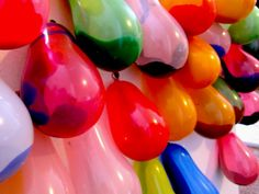 Fill balloons with paint and tape them onto a wall. Then shoot darts and splatter paint! Like in Princess Diaries. sounds sooo fun! ;D